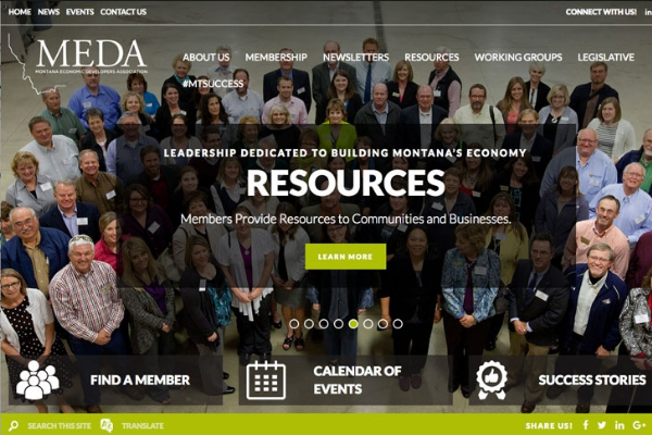 Click the New MEDA Website a Resource for Economic Developers Slide Photo to Open