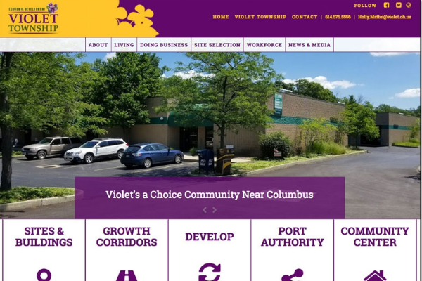 Violet Township's State of the Art Website Aims to Attract Industry Photo